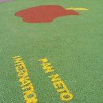 pavimento antitrauma in gomma colata