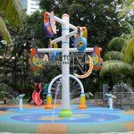 Spraypark -antishok rubber playground - pavimento antitrauma parco acquatico